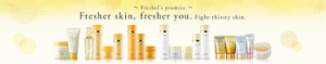 ~Freshel's promise~ Fresher skin, fresher you. Fight thirsty skin.