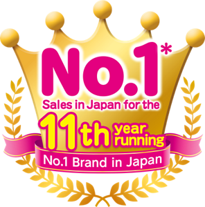 No. 1* sales in Japan for the 10th year running