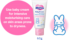 60g Use baby cream for intensive moisturising care on skin areas prone to dryness.