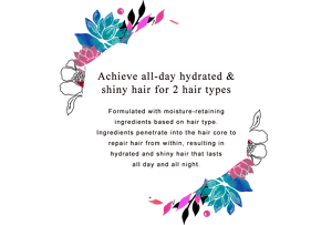 Achieve all-day hydrated &  shiny hair for 2 hair types