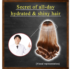 Secret of all-day hydrated & shiny hair