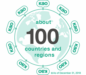 about 100 countries and regions
