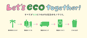 Let's eco together! すべてがエコにつながる花王のモノづくり。