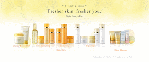 ~Freshel's promise~ Fresher skin, fresher you. Fight thirsty skin. Cleansing & Face Wash Extra Moisturizing Moisturizing Brightening* Skin Care Base Makeup *Redues dark spot visibility with the product's makeup effect.