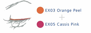 EX03 Orange Peel + EX05 Cassis Pink