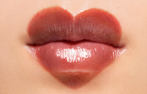 EX-1 A single coat on both lips. RD-1 Draw an exaggerated heart over the curve of the cupid's bow.