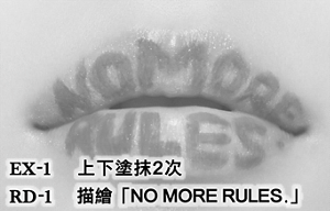 EX-1 上下塗抹2次 RD-1 描繪「NO MORE RULES.」