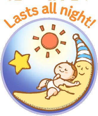 Lasts all night!