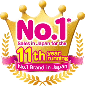 No. 1* sales in Japan for the 11th year running
