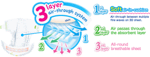 The Triple layer air-through system