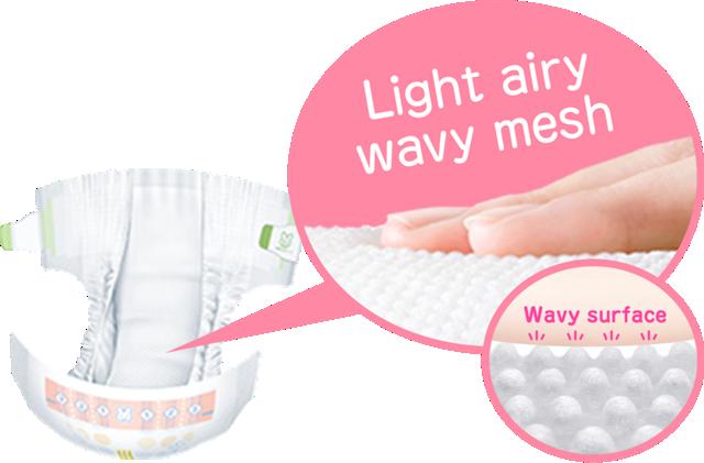Light airy wavy mesh  Wavy surface