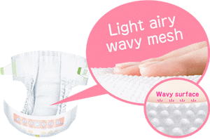 Light airy wavy mesh  Wavy surface