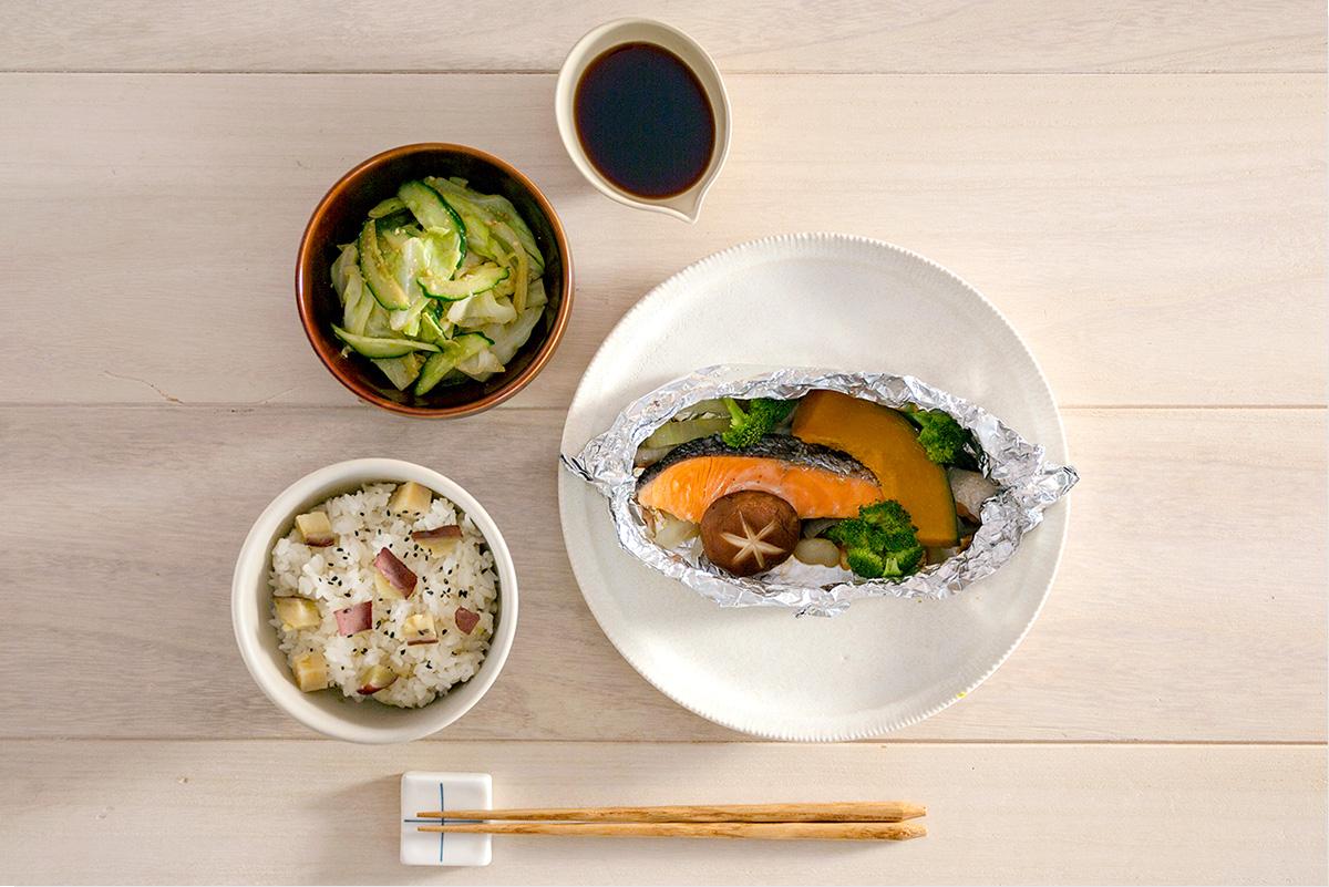 焼き 副 菜 ホイル 鮭 の