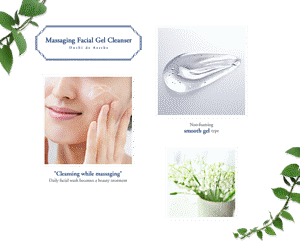 "Massaging Facial Gel Cleanser/""Cleansing while massaging"" Daily facial wash becomes a beauty treatment / Non-foaming smooth gel type"