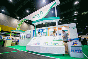 Kao's booth introducing eco-friendly initiatives