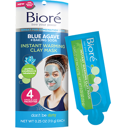 Blue Agave + Baking Soda Instant Warming Clay Mask