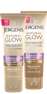 JERGENS natural glow 3 Days to Glow™ Moisturisers