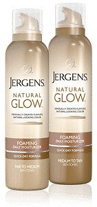 JERGENS<sup>®</sup> natural glow Foaming Daily Moisturizer