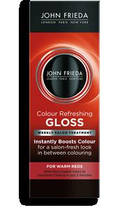 Color Refreshing Warm Red Hair Gloss John Frieda
