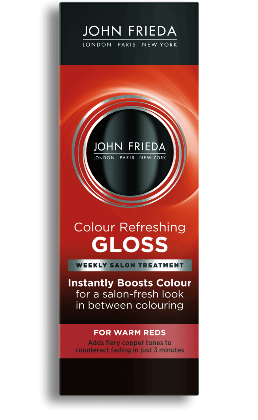 Color Refreshing Warm Red Hair Gloss John Frieda