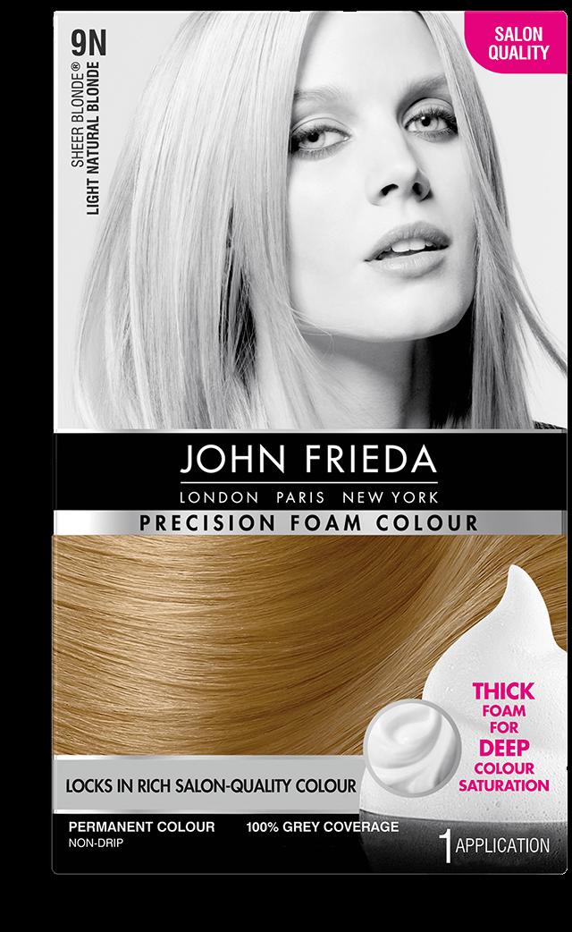 Precision Foam Colour 9n Sheer Blonde Light Natural Blonde John Frieda