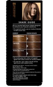 Light Natural Brown Hair Color 6n John Frieda