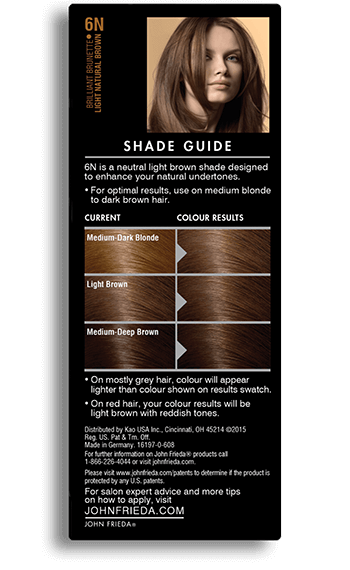 Light Natural Brown Hair Color - 6N | John Frieda