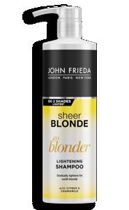 go blonder lightening shampoo sheer blonde john frieda. Black Bedroom Furniture Sets. Home Design Ideas