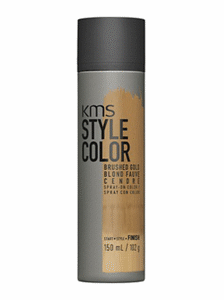 kms style hair color blond gold temporary spray
