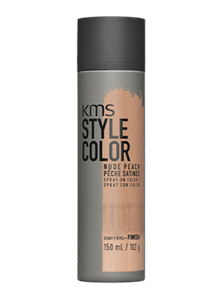 kms style hair color grey metallic  spray
